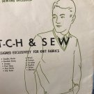 Men's Set-N Sleeve V-neck shirt Stretch & Sew Ann Person 150 Sewing Pattern