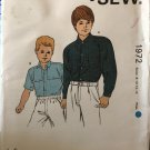 Kwik Sew 1972 Boys Shirt 1980s Vintage Sewing Pattern Size 8 - 14