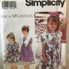 Simplicity 8840 Child's Dress with collar Sewing Pattern Size 5 6 6X