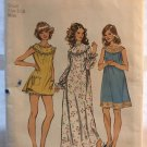 Simplicity 5030 Misses Nightgown in Three Lengths plus bloomers sewing pattern size small 8-10
