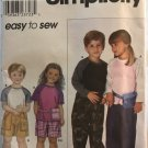 Simplicity Sewing Pattern 9080 Child's Pants or Shorts, Bag and Knit Top Size A 3,4,5,6,7,8