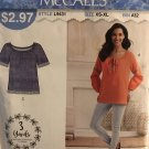 McCall's 9431 Misses Sew Simple Peasant Top Tunic Blouse Size XS - XL Sewing Pattern