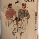 Kwik Sew 2220 Womens' Blouses Sewing Pattern size XS to XL