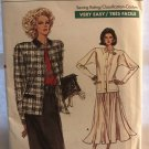 Vogue 7067 Misses' Jacke & Skirt sewing pattern size 12 14 16