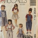 Simplicity 4932 Childrens' jumper and jumpsuits Sewing Pattern Size 4 chest 23""