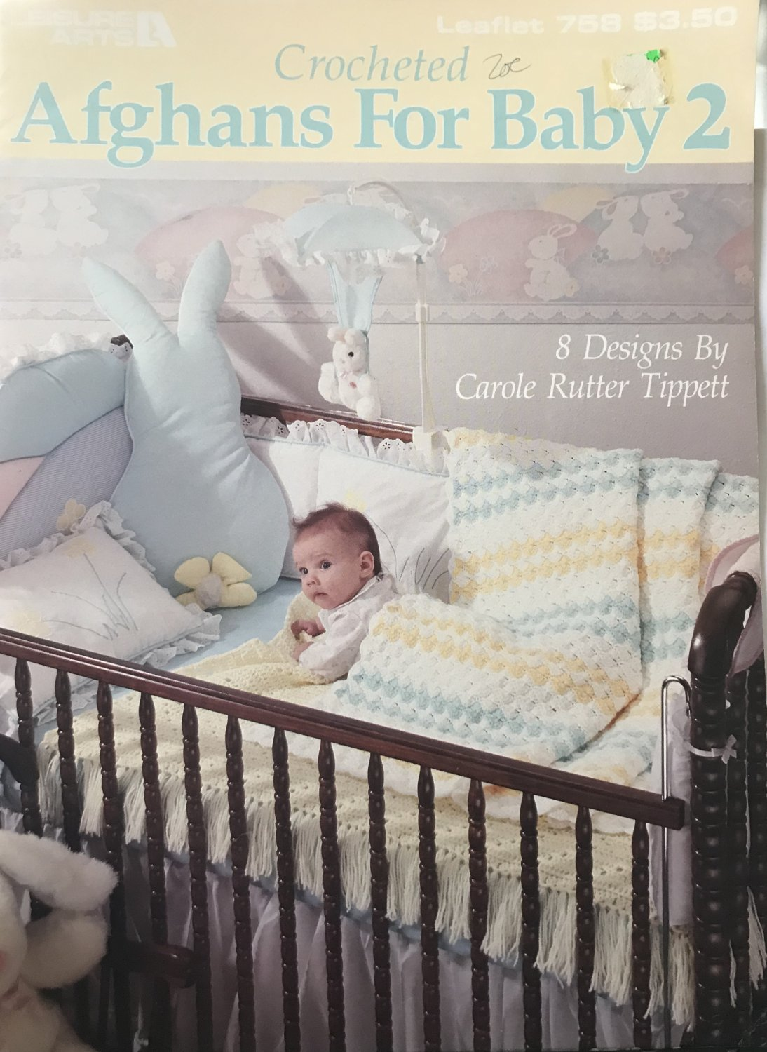 Leisure Arts 758 Crocheted Afghans for Baby 2 Crochet Pattern Carole Rutter Tippett