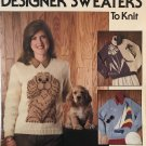 "Leisure Arts 947 Butterfly Cocker Spaniel Sailboat Iris Sweater Knitting Pattern Sizes 32"" to 40"""