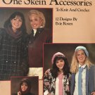 One Skein Accessories Knitting and Crochet Pattern  Tie, Dickey, Hats, Scarves Leisure Arts 442