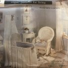 Vogue 1905 Patterns For Living From Baby's Nursery: Bassinet, Canopy, Drapes, Lampshade cover