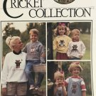 The CRICKET COLLECTION Sweatshirts No. 57 Counted Cross Stitch Pattern Teddy Bear