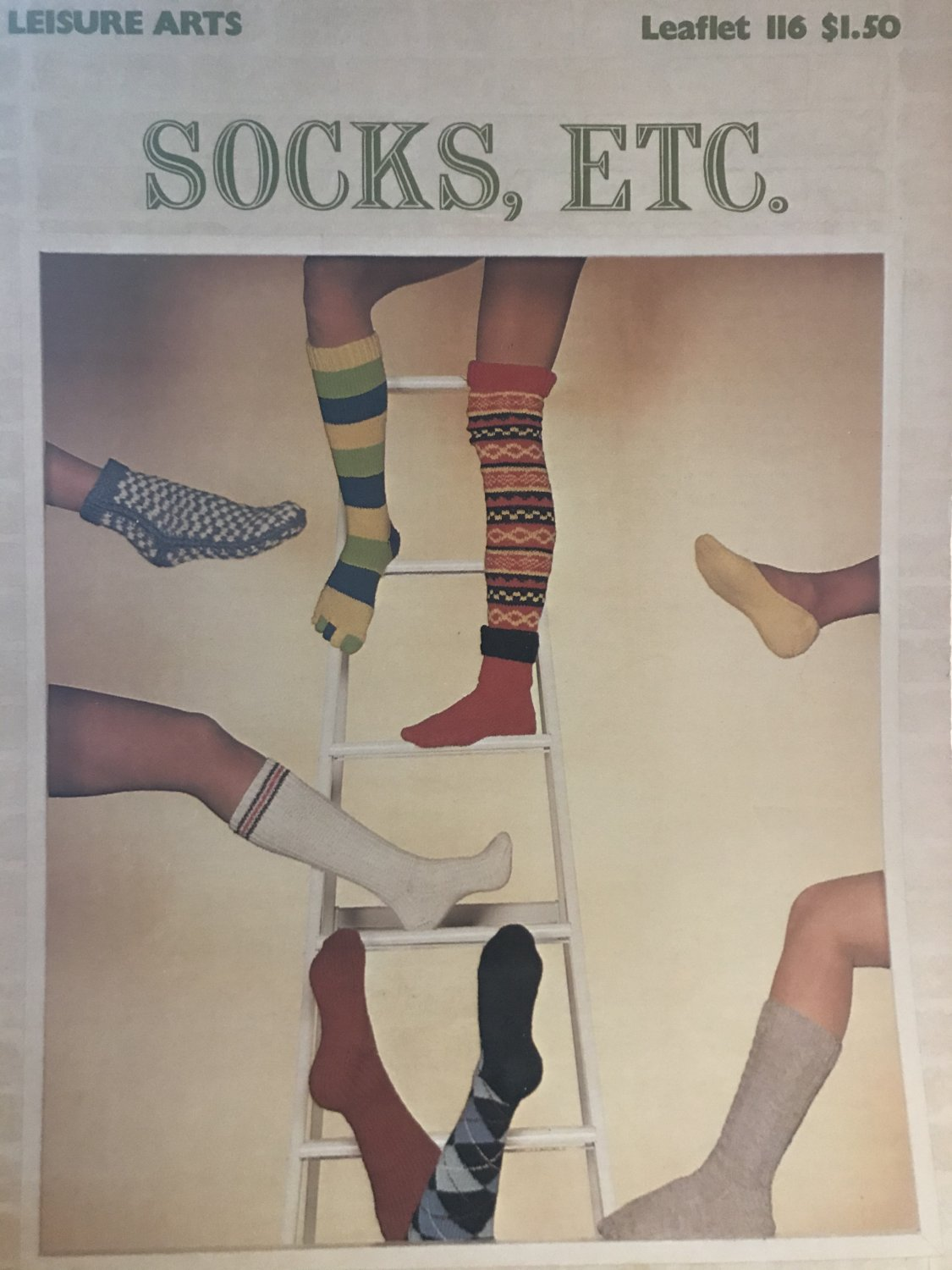 Leisure Arts 116 Socks Etc. Knitting pattern Boot Toppers and socks for all