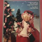 "Fibre Craft Mrs. Claus Dress for 13"" Mrs. Claus Doll Crochet Pattern FCM335"