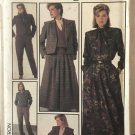 Simplicity 7034 Misses' Go-Everywhere Pants, Skirt, Lined Jackets, Blouse Sewing Pattern Size 10