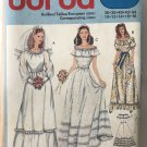 Burda Sewing Pattern 8393 Bridal Gown Bridesmaid peasant gypsy gown sewing pattern size 10 to 18