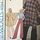 McCall's 4694 Misses' Reversible Poncho and Pants Sewing Pattern Size 8