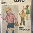 Simplicity 8596 Child's Pullover Top Pull-on Pants Shorts in Two Lengths Size 3 4 5 sewing pattern