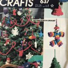 McCall's Decorations in Crochet 8087/637 instructions sheets for Christmas tree ornaments