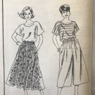 Mail Order 5768 Misses Top, Skirt and Culottes Sewing pattern size small to XL