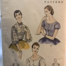 """Vintage Vogue 8558 Blouses """"Easy to Make"""" from 1955 sewing pattern size 18 bust 36"""