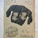 Knit O Graf 925 Child Kitten Sweater Knitting Pattern Sizes 2 4 6 8
