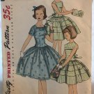 Simplicity 1557 Girls' One-piece Dress with separate collar Sewing Pattern Size 7