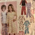 McCall's M9231 Stitch 'n Save Childrens' Nightgown Pajamas Sewing Pattern size 4 5 6