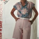 Easy Stitch 'n Save By McCall's 2442 misses top and shorts size 14 16 18 Uncut sewing pattern