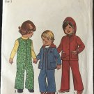"""Simplicity 7774 Toddlers' Hooded Jacket and Coveralls Sewing Pattern size 1 chest  19"""""""