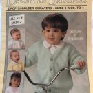 Leisure Arts 2270 Childrens drop shoulder sweaters knitting pattern Back to Basics