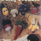 Perky Produce Magnets Crochet Pattern Leisure Arts 2553 fruit & veggies designed by Sue Penrod