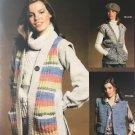 Bernat 240 Small Change Vests knitting pattern