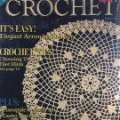 Old Time Crochet Magazine Spring 1991 Arrowhead Doily, Pineapple Console set, Easter pincushion