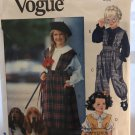 Sewing Pattern Little Vogue 8154 Girls Jumper Jumpsuit Blouse size 4 5 6