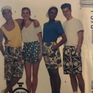 "McCall's 5982 P373 Mens Teens Boxer Shorts in Three Lengths Sewing Pattern size x-large 46"" 48"" hip"