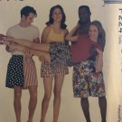 "McCall's 7678 P224 Misses and Mens pull-on shorts in 3 lengths size L, XL Hip 40"" to 46"""