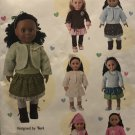 18 Inch Doll Clothes Simplicity 1515 UNCUT Sewing Pattern Tops leggings skirt jacket headband hat
