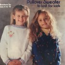 Any-Size Any-Yarn Pullover Sweater to knit for Kids Pattern American School of Needlework 1074