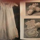 Crochet Antique Baby Layette Pattern  Annie's Attic 87B93 For sizes 0-3 M & 3-6 M
