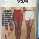 Simplicity 9574 Misses' Shorts in Three Lengths A Fuss-Free Fit Size 6 waist 23""