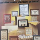 Leisure Arts 339 Murphy's Law and other Reasons why things go wrong Cross Stitch Pattern