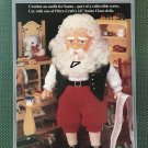 "Fibre Craft SANTA CLAUS outfit for 14"" Santa Claus Doll Sewing Pattern FCM333  1993 edition"