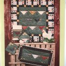We're Chicken Quilt, Potholder, Towel, Runner quilt patterns Hen Chick Button Weeds