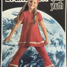 Brunswick Space Youth Knitting Pattern sizes 4 to 14 vintage knitting from 1970