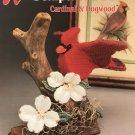 Annies Attic Plastic Canvas Sculptured Birds Cardinal & Dogwood 87B34
