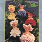 "Bud Babies Air Freshener Crochet Pattern Fibre Craft FCM444 Use with 4"" or 4 1/2"" Cupid Dolls"