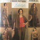 Butterick Sewing Pattern 5225 Misses Easy Wardrobe Dress Jacket Top Pants Shorts size 8, 10, 12, 14