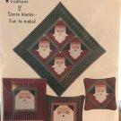 Santa Patches Pattern 2 Santa Blocks to Applique Country Appliques Jan Kornfeind