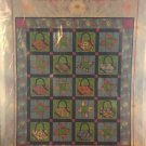 """Purses and Pinwheels Applique Quilt Pattern 70"""" x 84"""""""