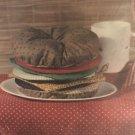 """The Pattern Shoppe """"Hot Buns"""" Hamburger Hot pad set, Circa 1985, Sewing Pattern Uncut"""