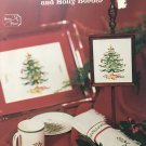 Spode Christmas Tree and Holly Border Charted Cross Stitch Pattern adaptation by Marilyn Tucker
